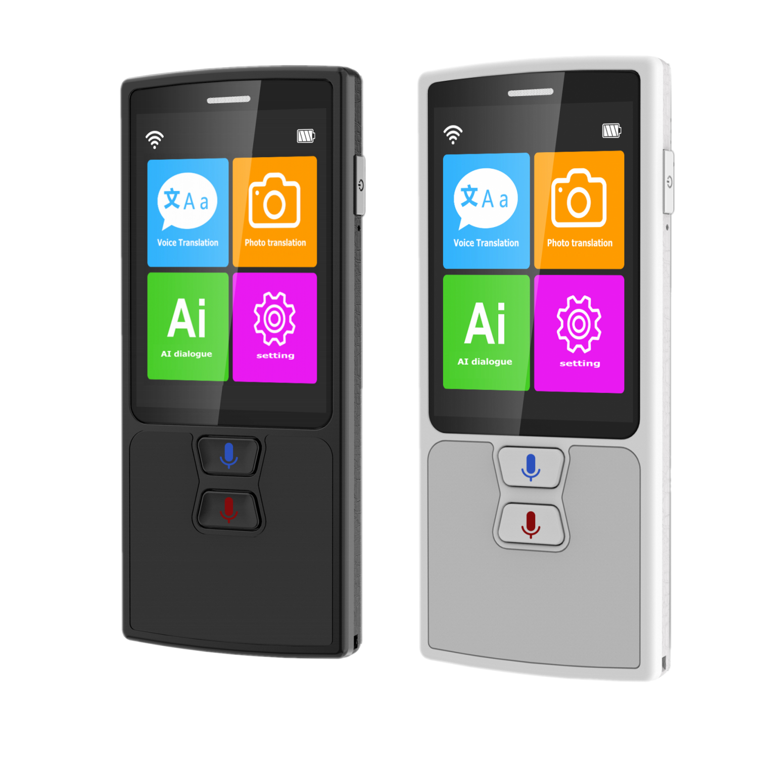 76 Languages Pocket Voice Translator for Travel translator with HD Touch Screen including WIFI and Hotspot Networking Methods