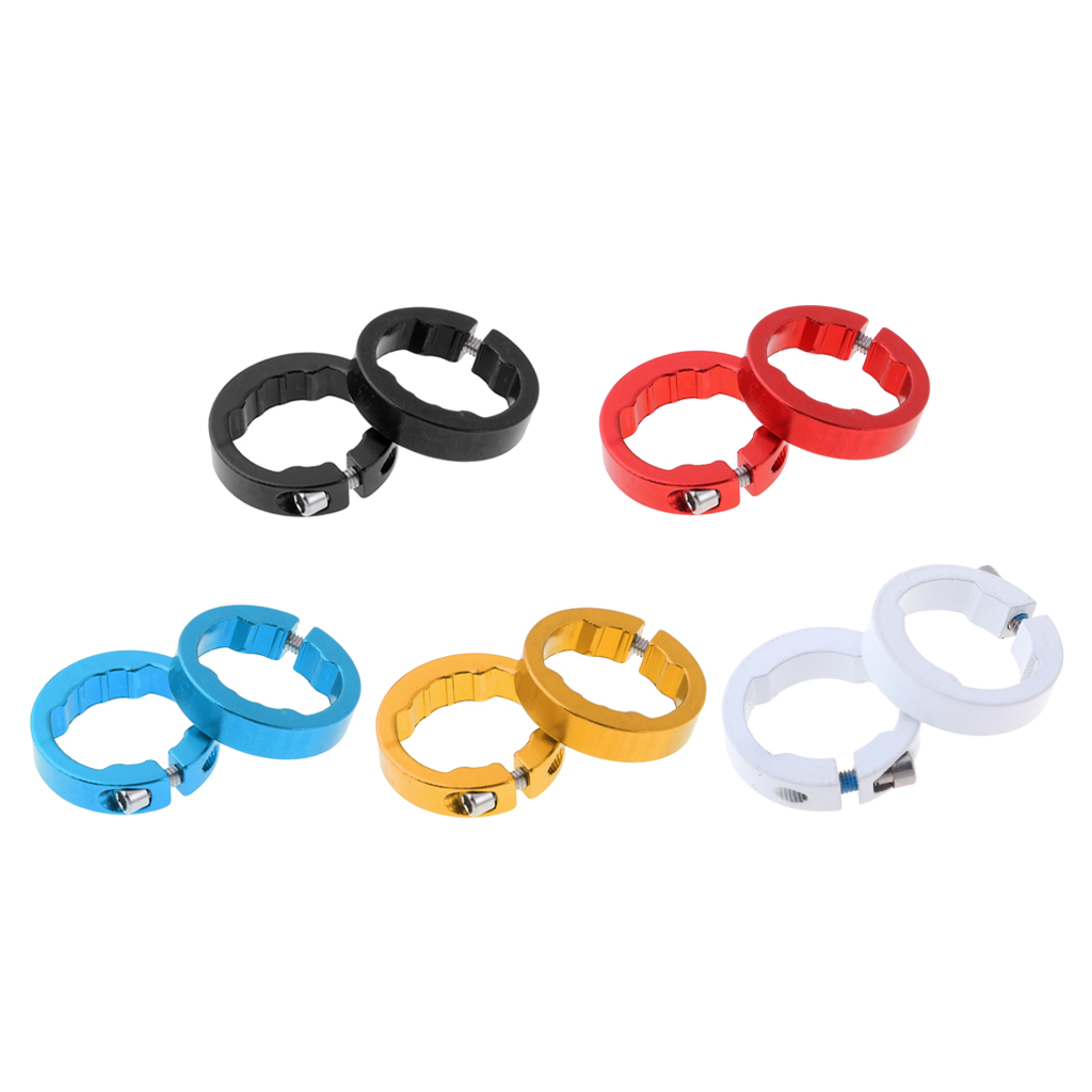 2pcs Lock Ring For Cycling Bicycle Bike Handlebar Grips Locking On Cycle Handle Bar Cover Grips End Fixed Rings For 22.2mm Grips