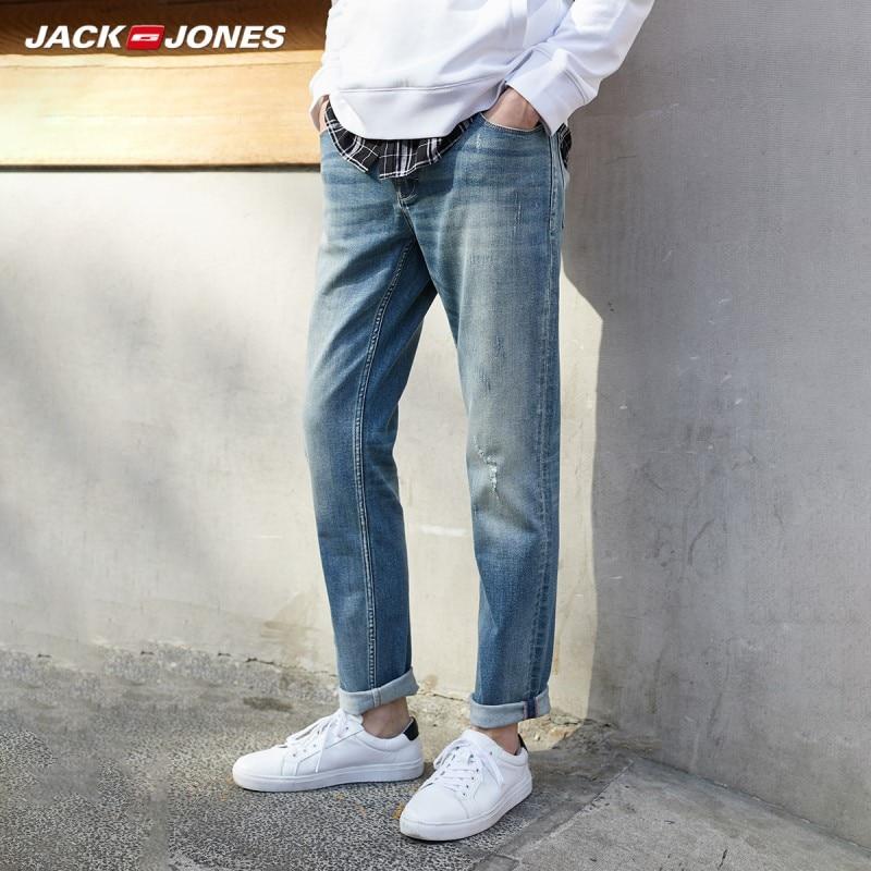 JackJones Men's Slim Straight Fit Fashion Cotton Jeans Menswear Basic| 220132578
