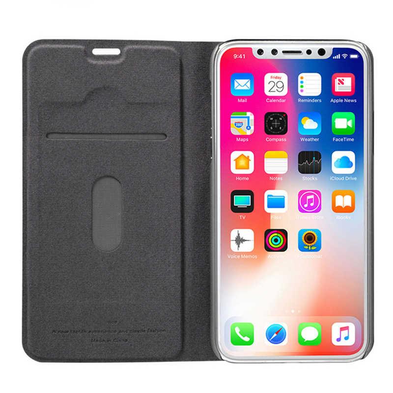מגנטי עור Flip ספר ארנק כיסוי עבור iphone 5 5S 6 6s 7 8 בתוספת X XR מקרה עבור iphone X XR xs מקסימום כרטיס מחזיק Stand כיסוי