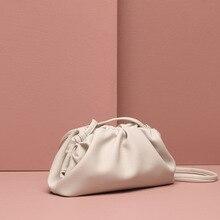 Luxury Designers Hobos Bag Women Genuine Leather Purses and Handbag Envelope Clutch Vintage Dumplings Shoulder Crossbody