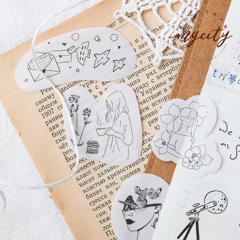 30sheets Salt System Sticker Pack Dreamland Creative Fresh Bullet Journal DIY  Decoration Cute Diary Scrapbook Stickers Kawaii