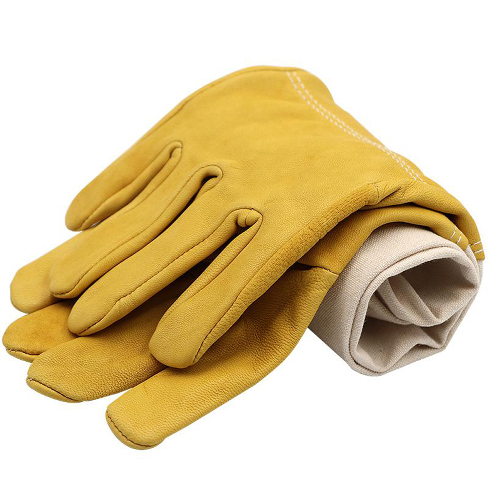 Bee Gloves Sheepskin Anti-bee Apicultura Beekeeping Tools For Beekeeper Protective Glove Canvas Beekeeping Equipment for Beework