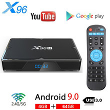 X96H Smart TV BOX Android 9.0 4GB RAM 64GB ROM Allwinner H603 2.4G & 5GHz WIFI 6K Netflix Youtube lecteur multimédia décodeur(China)