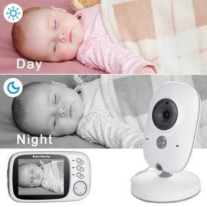 Image 3 - Monitor inalámbrico para bebés, pantalla LCD de 3,2 pulgadas, visión nocturna IR, 2 vías de conversación, 8 canciones de cuna, monitor de temperatura, vídeo, radio, cámara para bebés