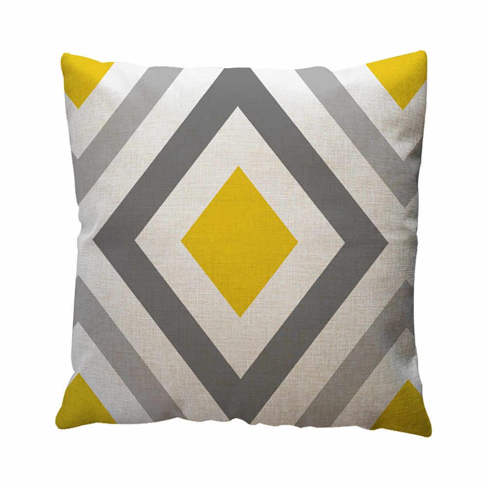 Áo Gối Trang Trí Nhà Họa Tiết Hình Học Ném Gối Đệm Gối Trên Ghế Sofa Xe Trang Trí Nhà Vải Lanh Cotton # l5