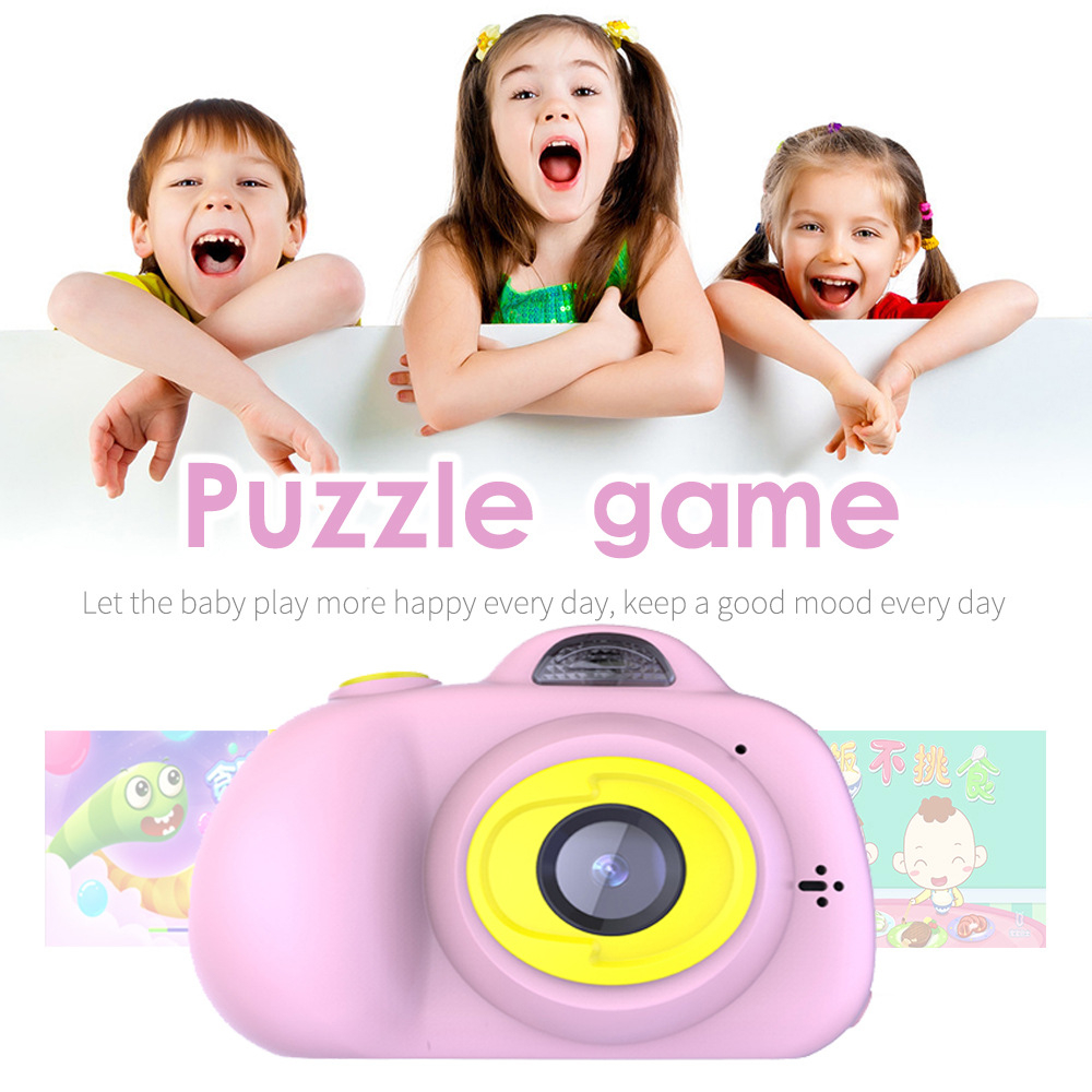 H32b7a548c3764f8ca27c1d88d504de0ci KIds Camera HD Child Camera Mini Digital Toy Camera Photography Children Educational Toddler Toy Photo Camera For Children Gifts