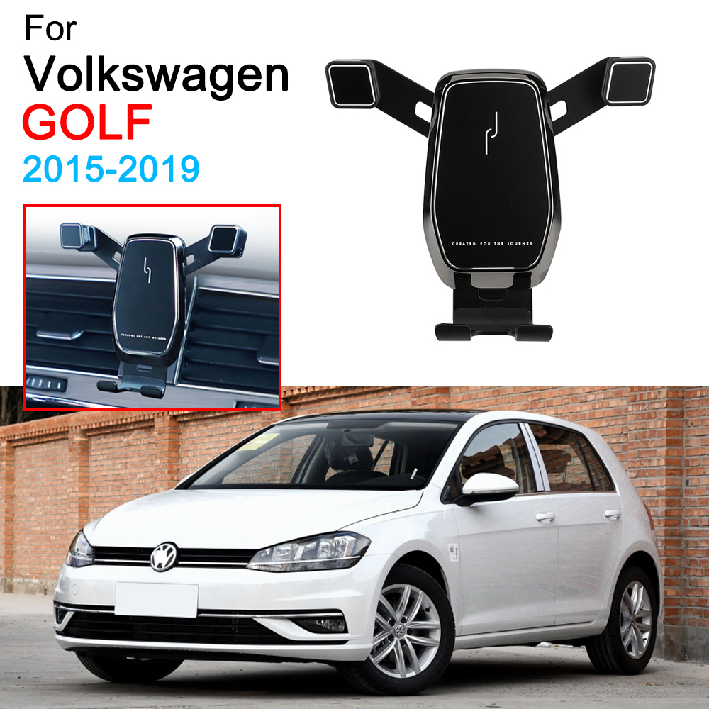 Car Mobile Phone Bracket Air Vent Mount Call Phone Holder For Volkswagen VW Golf 7 MK7 Accessories 2015 2016 2017 2018 2019