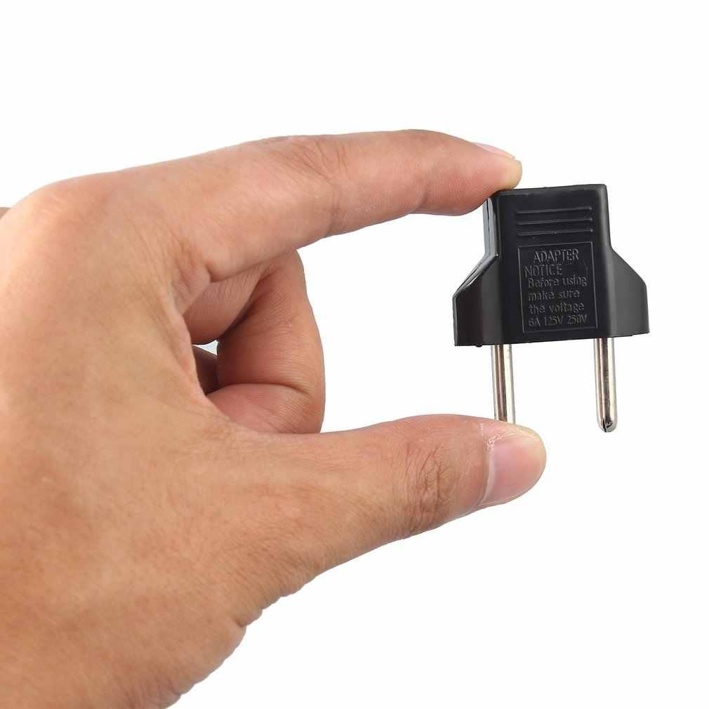 1 stücke 6A EU Adapter Stecker Europa Wand Power Ladegerät 2 Flache Pin Zu EU 2 Runde Pin Steckdose power Ladegerät Adapter
