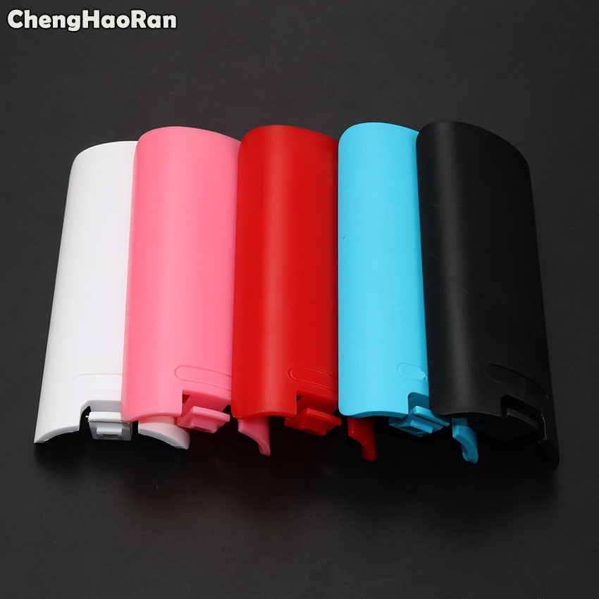 ChengHaoRan pokrywa baterii drzwi Pack Shell pokrywy skrzynka wymiana naprawa część dla Nintendo Wii kontroler bezprzewodowy