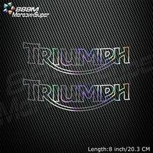 Motocykl laserowa, odblaskowa kask Tank Pad naklejka dekoracyjna motocykl naklejki dla Triumph DAYTONA 675 955i TIGER 800 1050