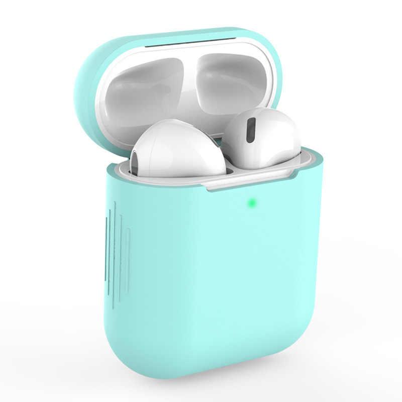 רך סיליקון מקרה Bluetooth אלחוטי אוזניות מגן כיסוי תיבת עבור אפל AirPods 2 אוזן תרמילי תיק TSLM1
