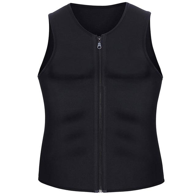 CXZD 2019 Men Waist Trainer Vest for Weightloss Hot Neoprene Corset Body Shaper Zipper Shapewear Slimming Belt Belly Men 2