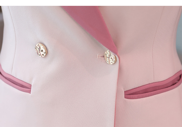Business women's suits pants suit high quality 2019 new autumn slim long-sleeved pink blazer female Office long sleeve two-piece 34