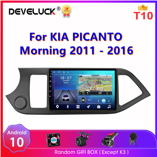 Android 10.0 2 din Car Radio For KIA PICANTO Morning 2011 2016 Multimedia Player Navigaion GPS RDS Split Screen Stereo Head unit