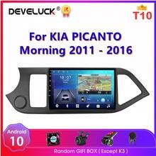 Android 10,0 2 din Radio del coche para KIA PICANTO Morning 2011 2016 reproductor Multimedia Navigaion GPS RDS pantalla cabeza estéreo unidad