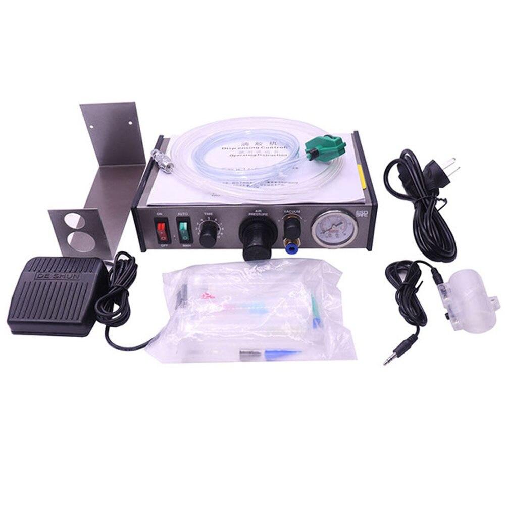 220V AD-982 Semi-Auto Glue Dispenser PCB Solder Paste Liquid Controller Dropper Fluid Glue Splitter Tools Machine VS 983A