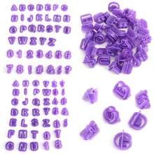 40 pçs cortador de gelo molde alfabeto letra fondant bolo diy decoração molde conjunto cookies criativo carta estereótipo molde