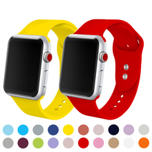 цена на Soft Silicone sport strap for apple watch band 38/42mm Wristband Bracelet Strap for iwatch series 4 3 2 1 44/40mm Sports Edition
