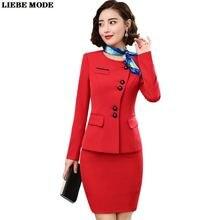 Размера плюс женская деловая юбка костюм элегантные женские