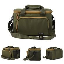 Lixada Multifunctional Canvas Fishing Shoulder Bag Pack Fishing Tackle Bag Fishing Lure Reel Bag Pouch Case Portable Fishing Bag