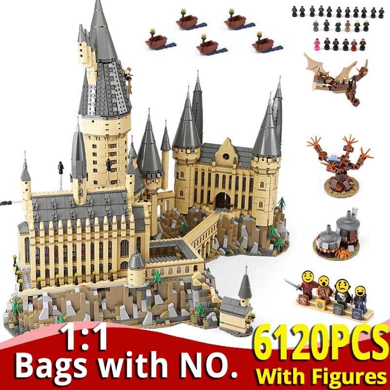 6120 PCS HarryINGLYS Potter Movie Magic Castle School Set Building Blocks Bricks Compatible LegoingLYS 71043 Toys For Kids Gifts