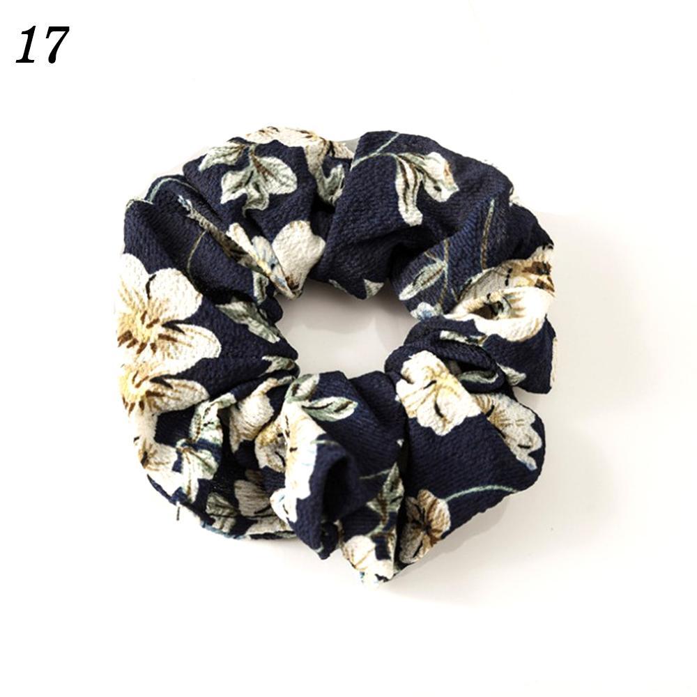 Корейский женский ободок для волос для девочек, полосатые женские резинки для волос, конский хвост, Женский держатель, веревка с ананасовым принтом, аксессуары для волос - Цвет: w17