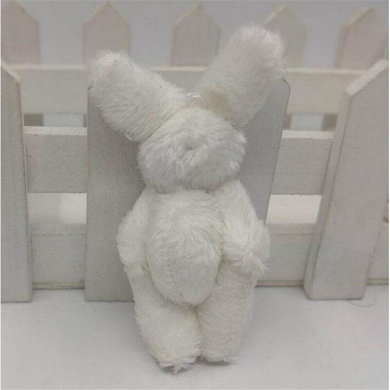 1pcs Easter Bunny plush mini cute small rabbit stuffed toys for boy and girl decorative pendant 6cm HANDANWEIRAN