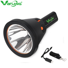High Power 30W LED Portable Hand held Hunting Flashliht CREE U2 Torch USB Rechargeable Searchlight Waterproof OutdoorLighting