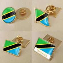 Герб Танзании/Флаг Танзании национальная эмблема брошь/значки/отворот