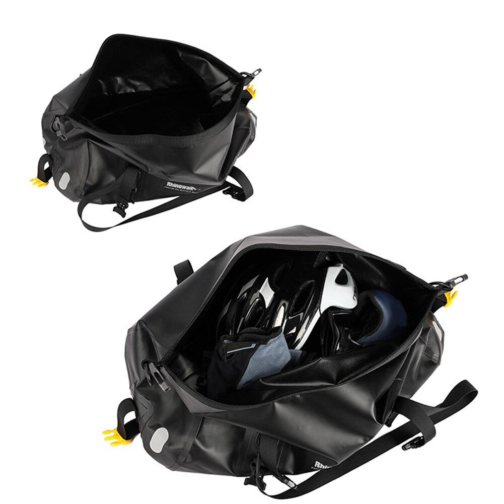 RockBros Cycling Bike Saddle Bag Waterproof Reflect Folding Bag 12-14L Brown