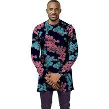 African clothing men's shirt slim fit ankara o-neck print tops customize for wedding wear male formal Ankara shirts