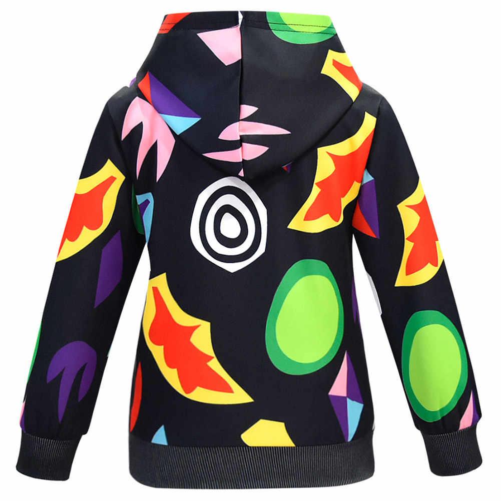 Kind Stranger Dingen Hoodie kids Cosplay 3D Gedrukt Sweatshirt Hoody Trui Jas Jas Uitloper