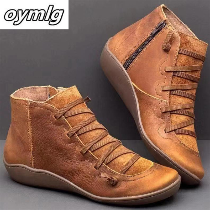 2019 British Wind Tooling Snow Boots Ladies Large Size High Boots Short Boots Wild Casual Shoes Women's Boots