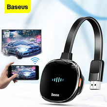 Baseus kablosuz ekran adaptörü 4KHD medya Video Streamer TV çubuk mini PC 4K HD Dongle 2.4G 5G Wifi ekran ayna alıcı TV telefonu için