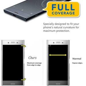 Image 3 - Protecteur décran 3D incurvé à couverture complète en verre trempé pour Sony Xperia XZ1 XZ2 Compact XZ3 X XA Ultra XA1 Plus XZ Premium