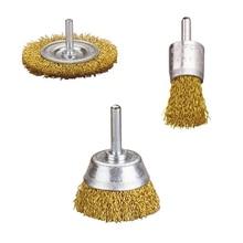 цена на 45 PCS Brass Wire Brush Polishing Wheel Cleaning Cup Brush Set For Dremel Accessories Rotary Tools
