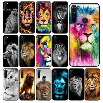 YNDFCNB animal Lion Alpha for Male Lovely Design Phone Case for Xiaomi Redmi 5 5Plus 6 6A 4X 7 8 Note 5 5A 7 8 8Pro image
