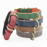 PU Leather Dog Collar Durable Necklack Collar for Small/Medium Dogs Bulldog Pup Dog Supplies Pet Accessories Products