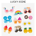 Funny Birthday Plastic Party Glasses Photo Booth Props Glasses Summer Party Supplies Kids Party Favors S01058