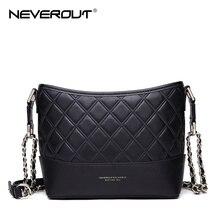 цена на NEVEROUT Woman Handbags High Quality Split Leather Bag Totes Women Messenger Bag Female Hobos Shoulder Crossbody Bags Black/Pink