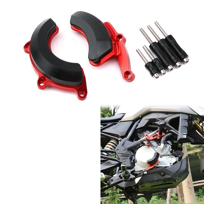 Engine Stator Alternator / Pulse Timing Cover Guard Crash Pad Slider Protector for BMW-G310R G310R G310 R 2017-2019 Red