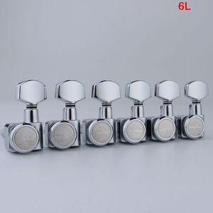 Image 3 - GUYKER 6R/6L Machine Heads no screws Locking Tuning Key Pegs Tuners Chrome