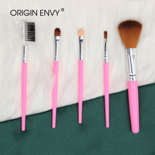 ORIGIN ENVY 5pcs Makeup Brush SetsMakeup Simple And Easy To Carry EyeShadow Eyelashes Lip