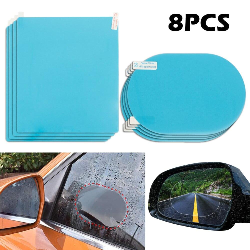 Зеркало заднего вида для автомобиля, 8 шт./лот/Лот, автомобильная защитная пленка, анти-туман, дождевик, прозрачное, непромокаемое, зеркало за...