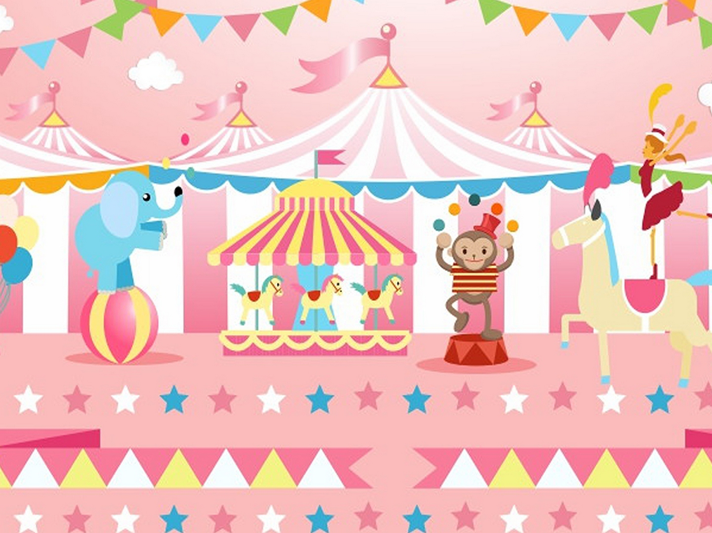 Pink Circus Birthday Party Background Circo Baby Shower Backdrop Girl Carnival Poster Pastel Colorful Bunting Photo Booth Banner Background Aliexpress