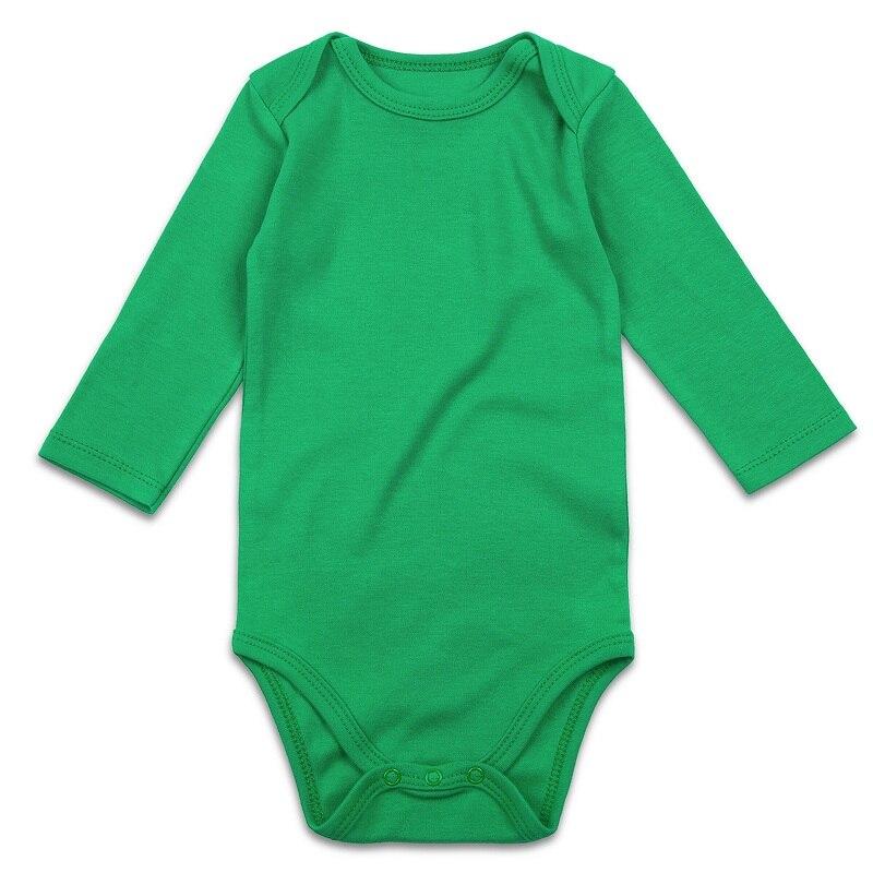 RomperinBox Unisex Solid Baby Bodysuit 0-24 Months-1