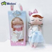 Oryginalne lalki Metoo wypchane zabawki dla dziewczynek niemowlę dziecko śliczny królik piękny anioł Angela pluszowe zwierzęta dla dzieci