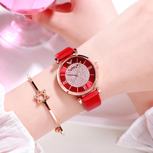 2019 Luxury Brand Elegant Ladies Women Watches White Leather Strap Quartz Wristwatch Fashion Watch for Dress Clock