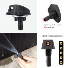 Pare-brise avant de voiture universel, 8mm, buse de Jet de lavage, couvercle de bec de ventilateur, sortie de lavage, réglage de buse d'essuie-glace